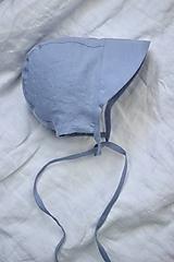 Detské čiapky - Detský čepček nebíčkovo modrý - 11898660_