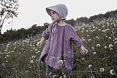 Detské čiapky - Detský čepček staroružový - 11898860_