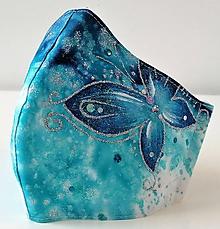 Rúška - RÚŠKO ručne maľované - Motýľ I. - 11901603_