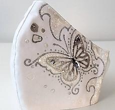 Rúška - RÚŠKO ručne maľované - Motýľ II. - 11901635_
