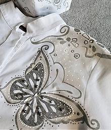 Tuniky - Motýľ - maľba na blúzke - 11901840_