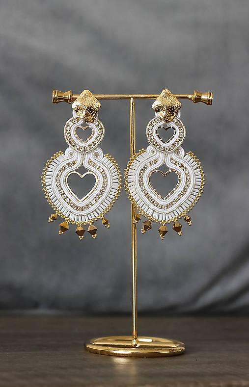 Bielo-zlaté Srdcia  (Zlatá)