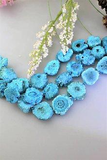 Minerály - krištálové drúzy modré - cena za 3ks AKCIA! - 11901245_