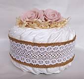 Detské doplnky - Plienková torta - Vintage ružová - 11900306_