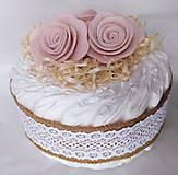 Detské doplnky - Plienková torta - Vintage ružová - 11900315_