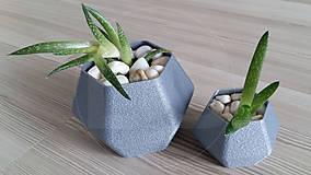 Dekorácie - kvetináč na sukulenty Hexa Grainy - 11896842_