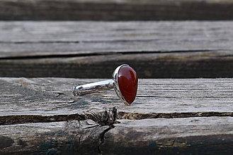 Prstene - Prsteň Achát z rhodiovaného striebra - 11899963_