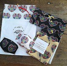 Úžitkový textil - Srdiečková ekosada - 11901384_