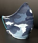 Rúška - Rúško maskáčové z úpletu - 11901916_