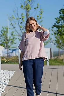Topy - Ľanové kimono Deni2, ružové - 11897359_