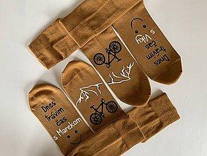 Obuv - Set maľovaných ponožiek pre pár/kamošky/priateľov/snúbencov... - 11898456_