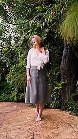 Sukne - MIA lněná sukně - 11896869_