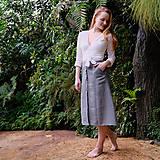 Sukne - MIA lněná sukně - 11896870_