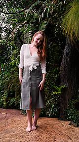 Sukne - MIA lněná sukně - 11896871_
