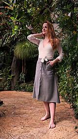 Sukne - MIA lněná sukně - 11896872_