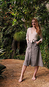 Sukne - MIA lněná sukně - 11896873_