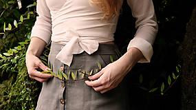 Sukne - MIA lněná sukně - 11896875_