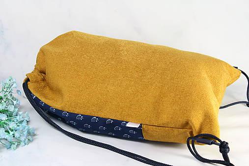 modrotlačový batoh Lesana žltý 20