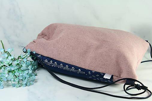 modrotlačový batoh Lesana VTÁČIK AM ružový