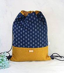 Batohy - modrotlačový batoh Lesana žltý 20 - 11898738_