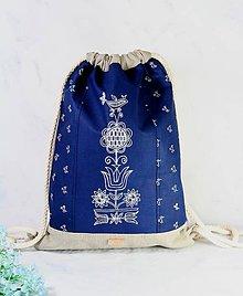 Batohy - modrotlačový batoh Lesana ZÁHORIE AM NATUR - 11898817_