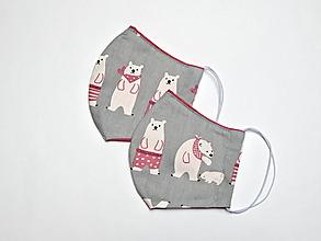 Rúška - Textilné rúško na tvár dvojvrstvové pre deti - šírka cca 10 cm - 11899138_