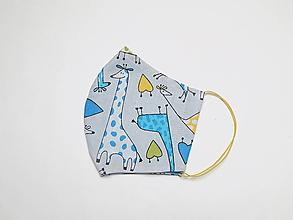 Rúška - Textilné rúško na tvár dvojvrstvové pre deti - šírka cca 10 cm - 11899290_