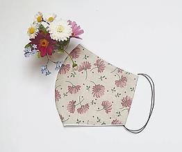 Rúška - Textilné rúško na tvár - ROMANTICKÉ - 11899356_