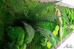 Obrazy - Machový obraz zo stabilizovaných rastlín na stenu - 11902022_