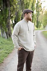 Oblečenie - Ľanová košeľa Mojmír prírodná - 11904346_