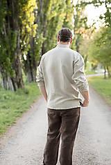 Oblečenie - Ľanová košeľa Mojmír prírodná - 11904349_