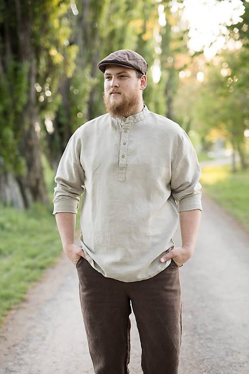 Ľanová košeľa Mojmír prírodná