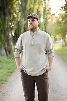 Oblečenie - Košuľka Mojmír prírodná - 11904348_