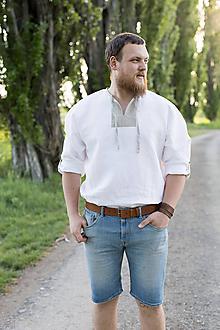 Oblečenie - Ľanová košuľka Svetislav - 11904423_