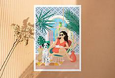 Obrazy - Houpačka - umělecký tisk, A4 - 11905996_