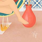 Obrazy - Houpačka - umělecký tisk, A4 - 11906002_