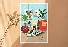 Obrazy - Česání - umělecký tisk, A4 - 11906110_