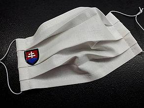 Rúška - Rúško s Sk znakom (Biele čierny znak) - 11903060_