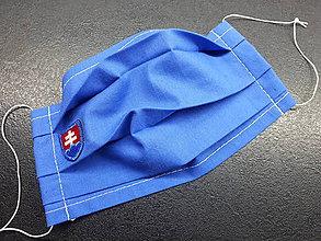 Rúška - Rúško s Sk znakom (Modré modrý znak) - 11903064_