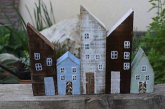 Dekorácie - Drevené domčeky - 11906151_