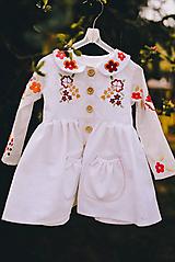 Detské oblečenie - Vyšívaný ľanový kabátik II. - 11903248_