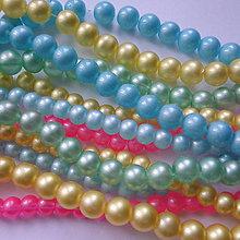 Korálky - Sklenené pastel-10ks - 11905168_