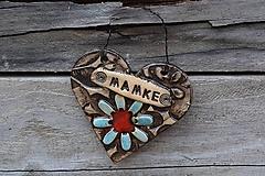 Dekorácie - srdiečko pre mamku - 11904152_