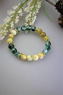 Náramky - opál a jadeit náramok - 11906711_