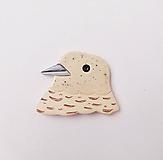 Odznaky/Brošne - Biely holúbok brošňa - 11903017_