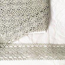 Galantéria - bavlnená paličkovaná čipka, 40 mm x 1 m - 11902768_