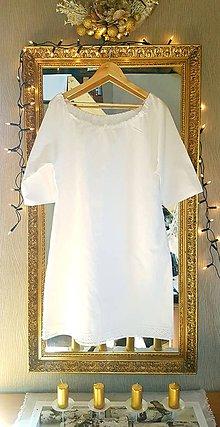 Šaty - Ľanové šaty Romantika - 11904559_