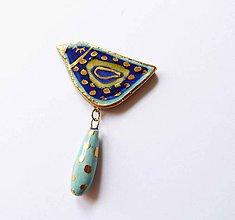 Odznaky/Brošne - TANA hand made jewellery - keramika/zlato - 11903388_