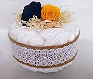 Detské doplnky - Plienková torta - Vintage farebná - 11904129_