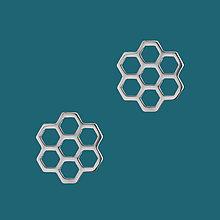 Náušnice - Náušnice včelí plást- chirurg. oceľ/pozlatené - 11902565_